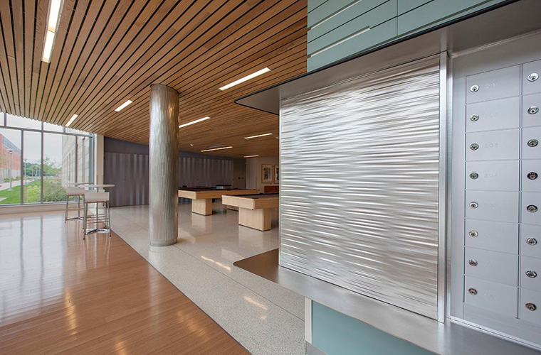 Stainless Steel And Fused Metal Column Covers Offer A Visually Rich Option  For Complementing Design Elements And Cladding Existing Structural Columns.
