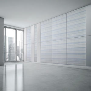 Wall panels shown in ViviSpectra Elements glass in Reflect configuration with Ma