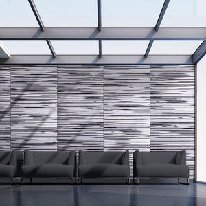 Wall panels shown in ViviSpectra Elements glass in Reflect configuration with Ra