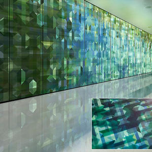 LEVELe Wall Cladding System with Blind panels; insets in ViviSpectra VEKTR glass