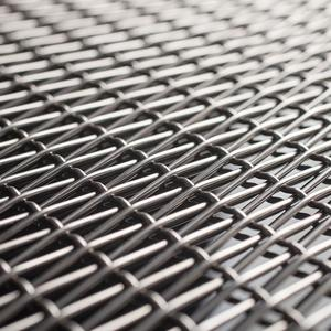 Linq Woven Metal shown with Connect CrossLinq pattern in Stainless Steel