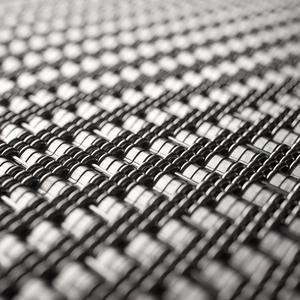 Linq Woven Metal shown with Chord CrossLinq pattern in Stainless Steel