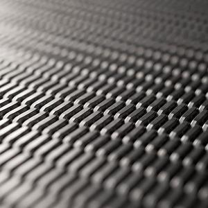 Linq Woven Metal shown with Merge CrossLinq pattern in Stainless Steel