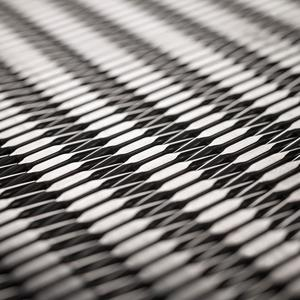 Linq Woven Metal shown with Tempo CrossLinq pattern in Stainless Steel