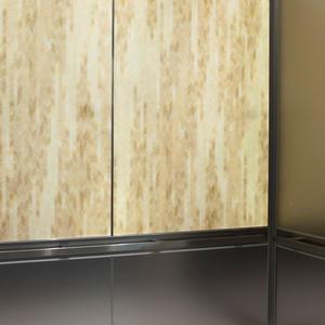 LEVELe-106 Elevator Interior with main LightPlane panels in Chevron