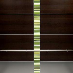 LEVELe-107 Elevator Interior with main panels in Wenge wood veneer