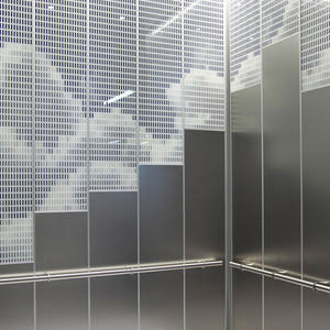 LEVELe-108 Elevator Interior shown with upper panels in ViviGraphix Spectra