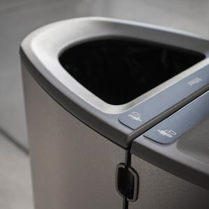 Axis Litter & Recycling Receptacles shown attached
