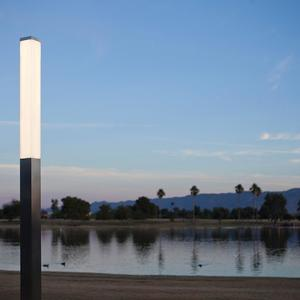 Rincon Pedestrian Lighting shown in Stainless Steel with Satin finish