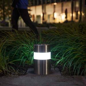 Light Column Pathway Bollards shown in Stainless Steel with Satin finish