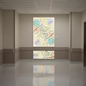 LightPlane Panels in ViviSpectra Spectrum glass with custom graphic interlayer a
