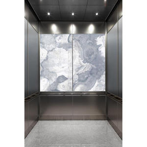 LEVELe-106 Elevator Interior with main LightPlane Panels in ViviStone Pearl Onyx