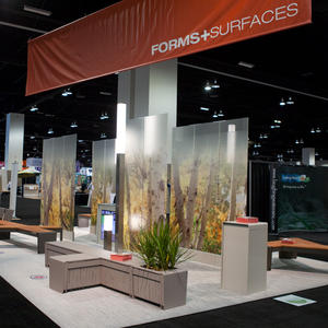 Forms+Surfaces booth at the 2014 ASLA Annual Meeting & EXPO