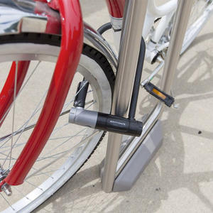 Summit Bike Rack shown in surface mount configuration with body in Stainless