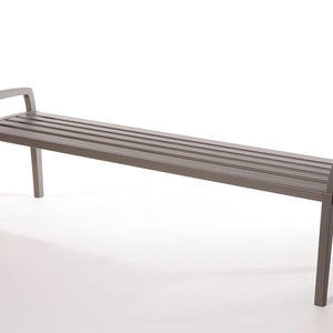Cordia Bench shown in 6 foot, backless configuration, with aluminum slats