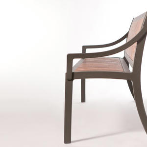 Cordia Bench shown in 6 foot, backed configuration with FSC® 100% Jatoba wood