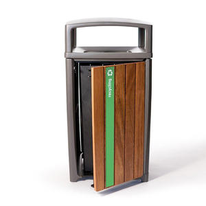 Cordia Receptacle in 36 gallon, single-stream configuration with Slate Texture