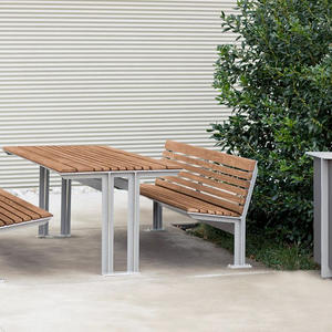 Knight Table Ensemble shown in backed configuration with Aluminum Texture powde