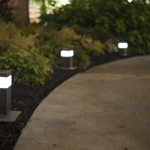Rincon Pathway Bollards shown in Stainless Steel with Satin finish