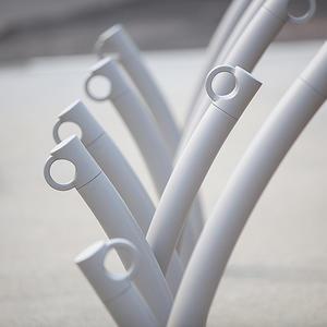 Bike Garden Bike Rack shown with Aluminum Texture powdercoat