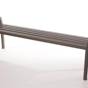 Cordia Bench shown in 6 foot, backless configuration, Slate Texture powdercoat