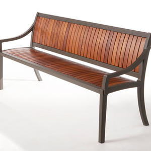 Cordia Bench shown in 6 foot, backed configuration with Jatoba slats