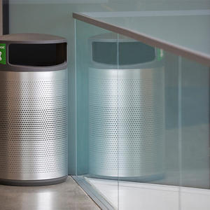 Universal Litter & Recycling Receptacle shown in 24 gallon, side opening