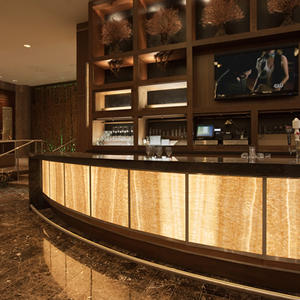 LightPlane Panels in ViviStone Honey Onyx - Illuminated