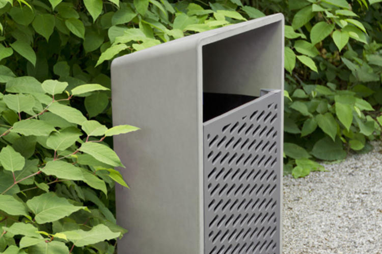 Bevel Litter Receptacle