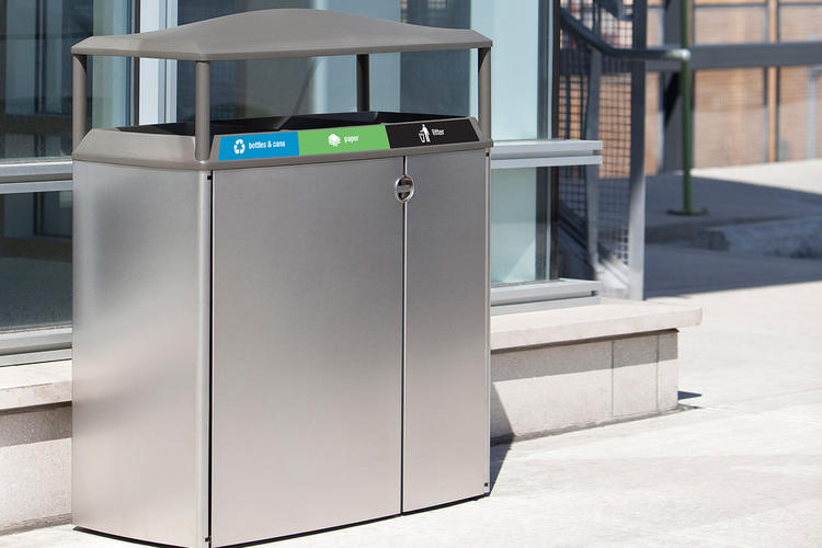Transit Litter & Recycling Receptacle