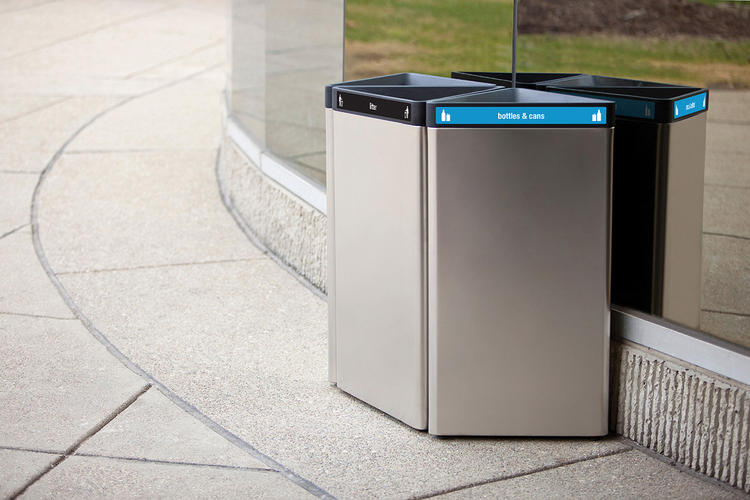 Triad Litter & Recycling Receptacle