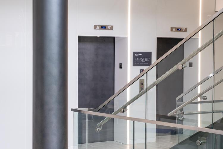 Elemental Metal Elevator Doors