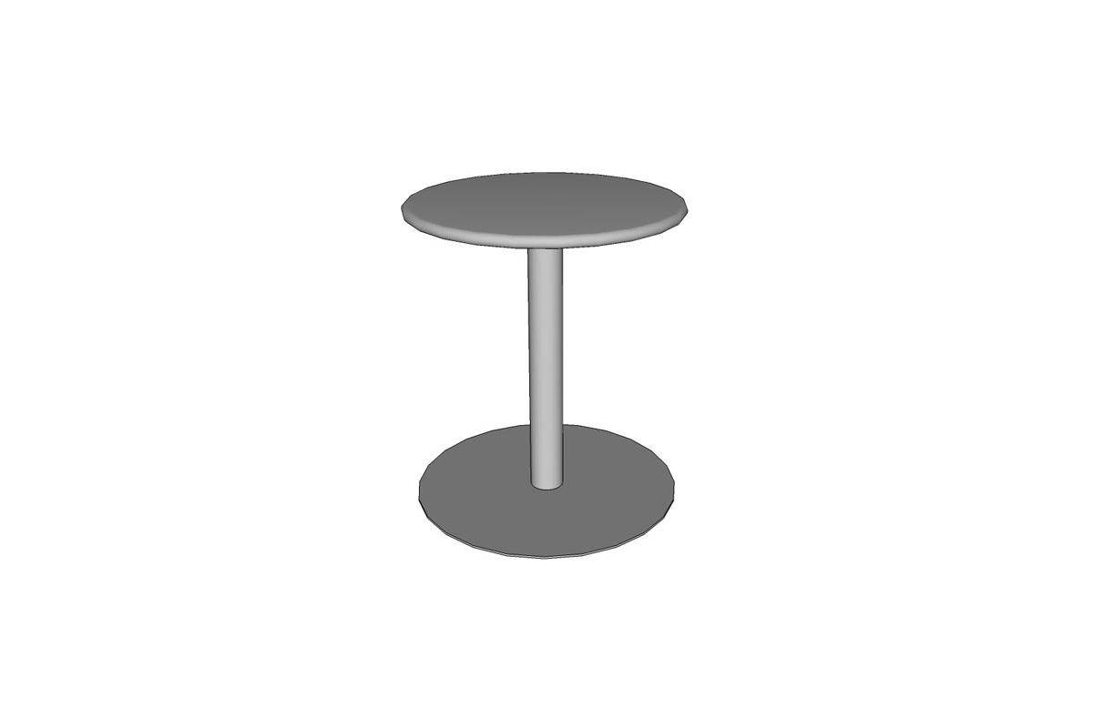 "Column Table, table height, 24"" round table top, 24"" base"