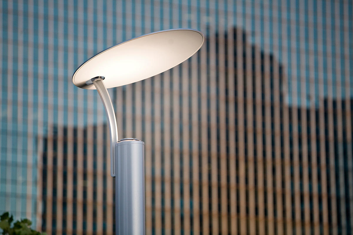 3Rivers Pedestrian Lighting shown with custom powdercoat color