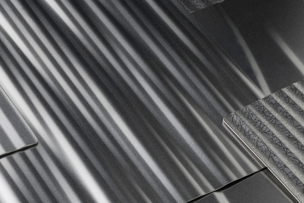 Stainless Steel with Impression patterns: Denver, Kalahari, Dallas, Champagne