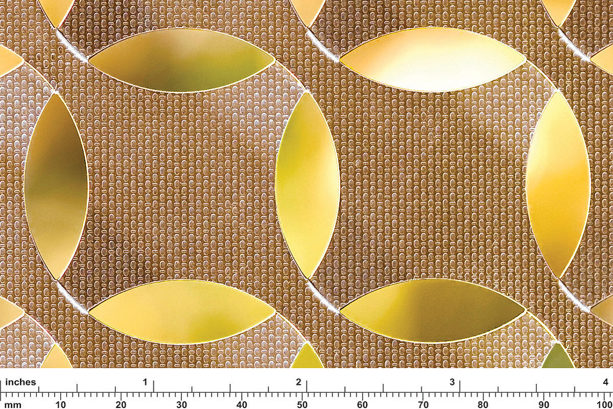 Fused metal screen patterns architectural forms surfaces
