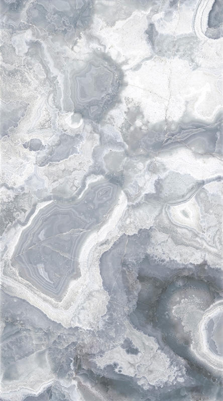 "ViviStone Pearl Onyx glass, slab A-1, in Reflect configuration; Size: 65"" X 117"""