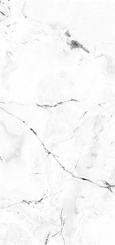 "ViviStone White Onyx glass, slab A-1, in Reflect configuration; Size: 48"" X 102"""