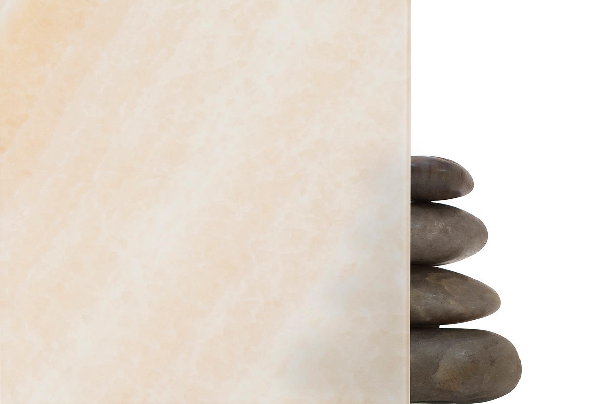 ViviStone Cream Onyx glass shown in View configuration with Standard finish