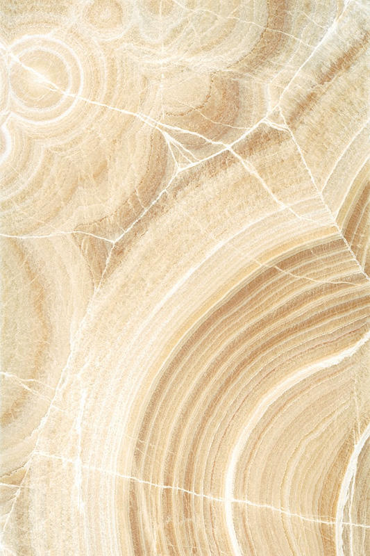 "ViviStone Cream Onyx glass, slab A-1, in Reflect configuration; Size: 60"" X 90"""