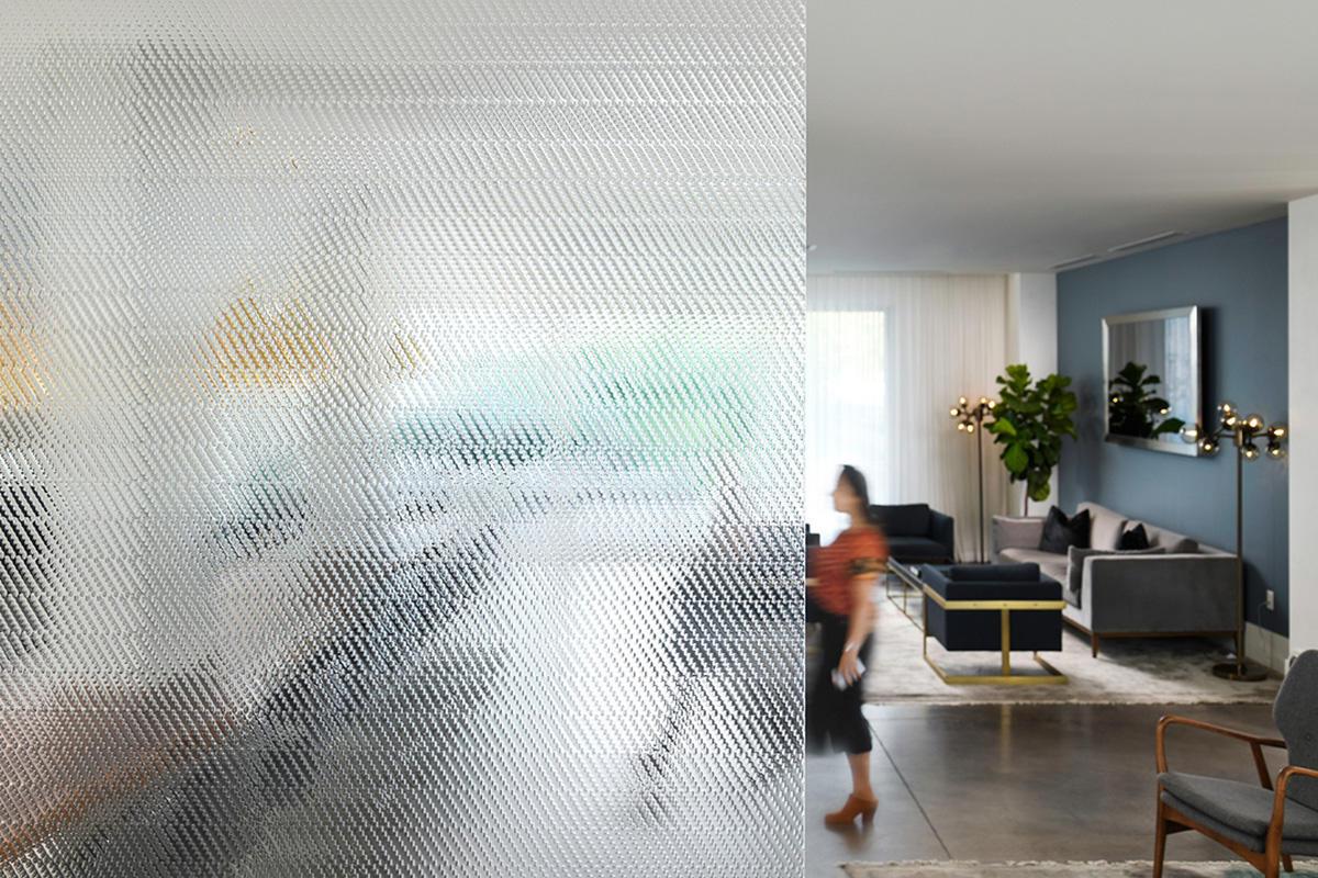 BermanGlass Intervals Kiln Cast Glass in Locus texture