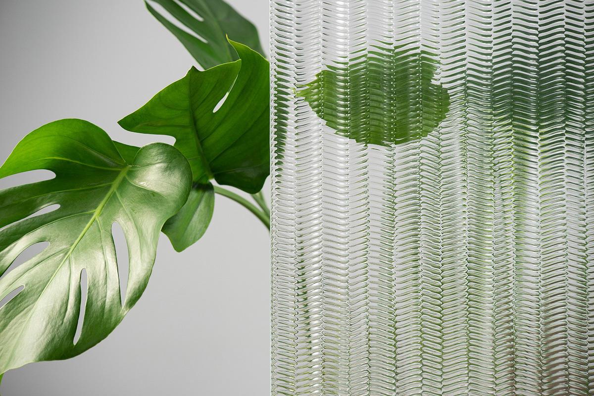 BermanGlass Intervals Kiln Cast Glass in Verse texture