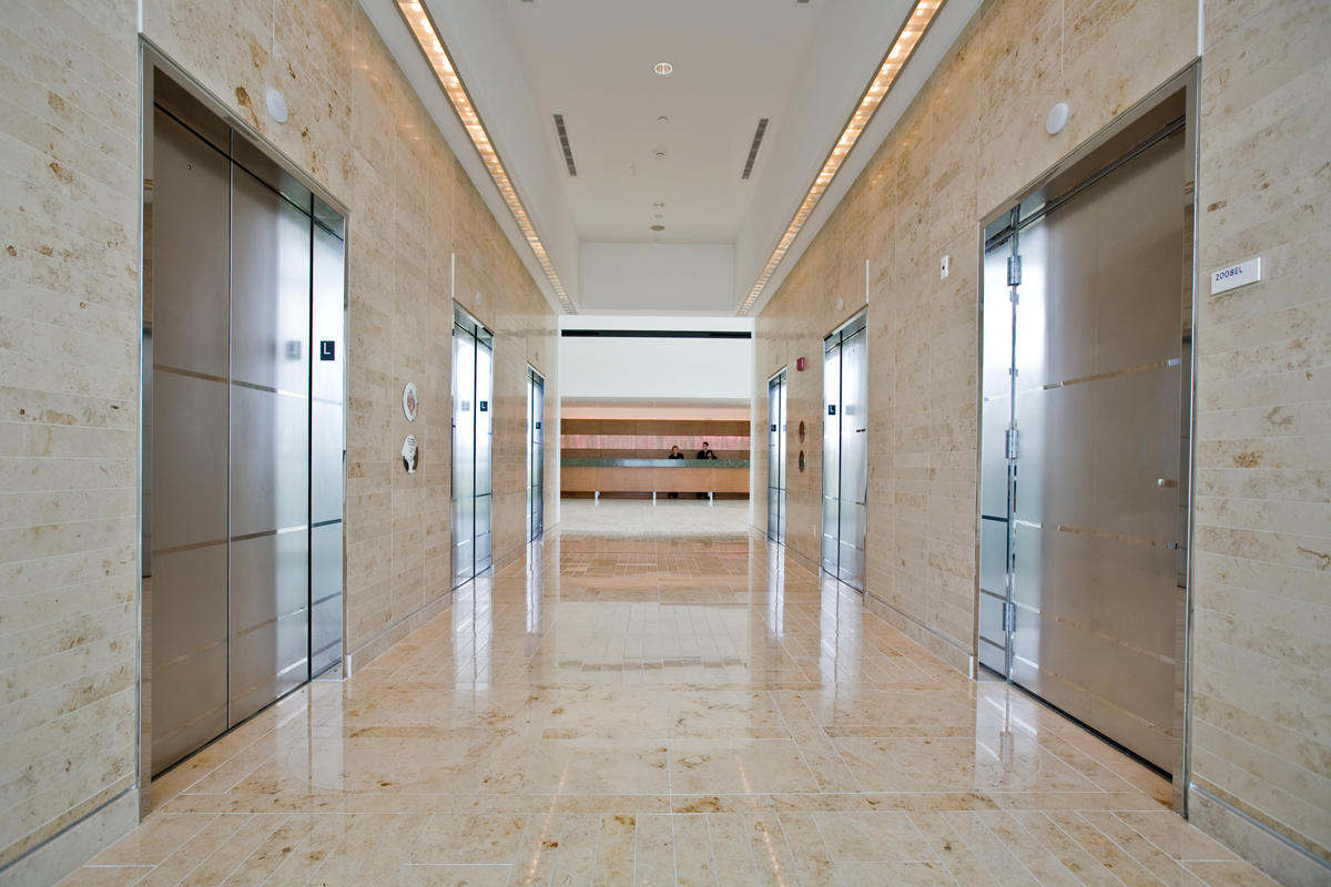 Stainless Steel Elevator Doors in Mirror finish with custom Eco-Etch pattern at Renaissance Schaumburg Hotel u0026 Convention Center Schaumburg Illinois & Stainless Steel Elevator Doors | Architectural | Forms+Surfaces