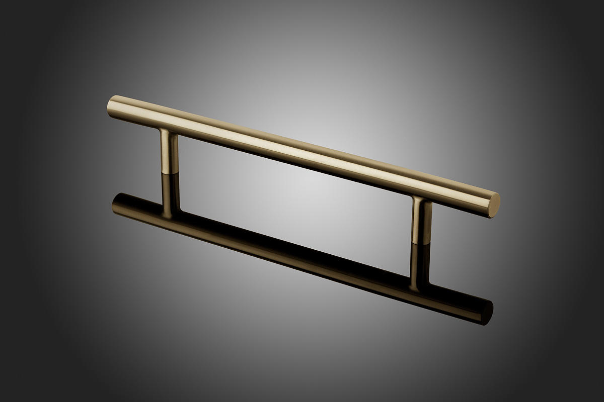 Round model DT1014 shown in Satin Brass (US4). Grip diameter 1  (25mm). Size range 12  (305mm) - 36  (914mm) c.c. & Round Door Pulls | Architectural | Forms+Surfaces