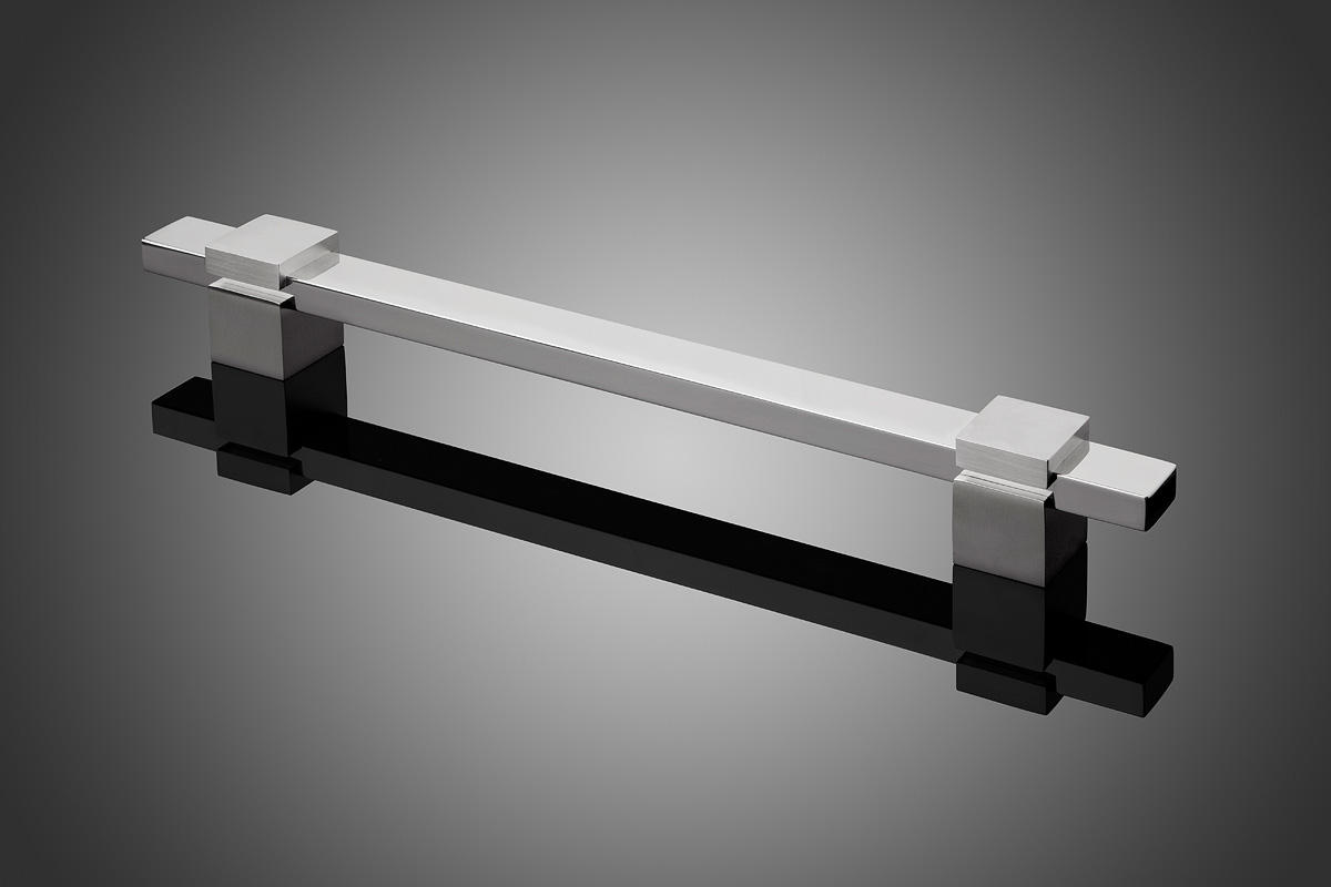 Modular model DP6112 shown with grip and standoffs in Polished Stainless Steel (