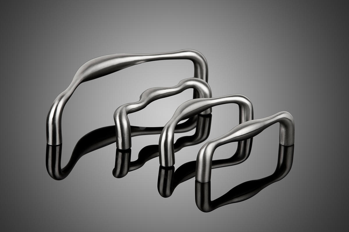 Cadence Series DPC7500 cabinet pulls shown in Satin Stainless Steel (US32D).