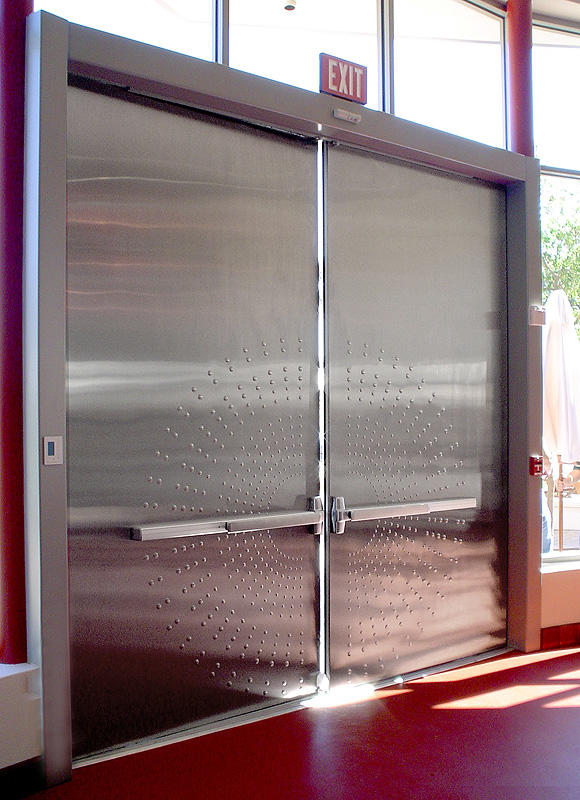 ... Stainless Steel Doors In Satin Finish With Circle Impression Pattern ...