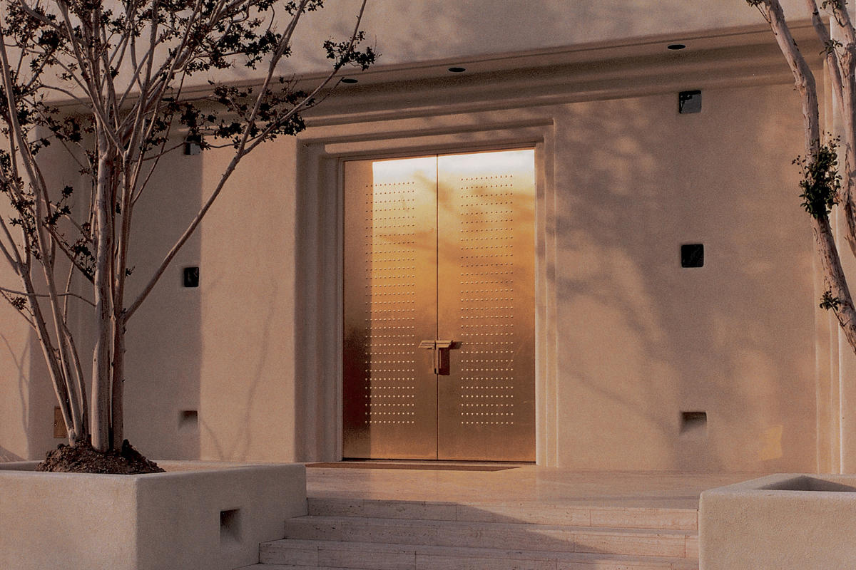 Fused metal doors architectural forms surfaces for Steel front entry doors