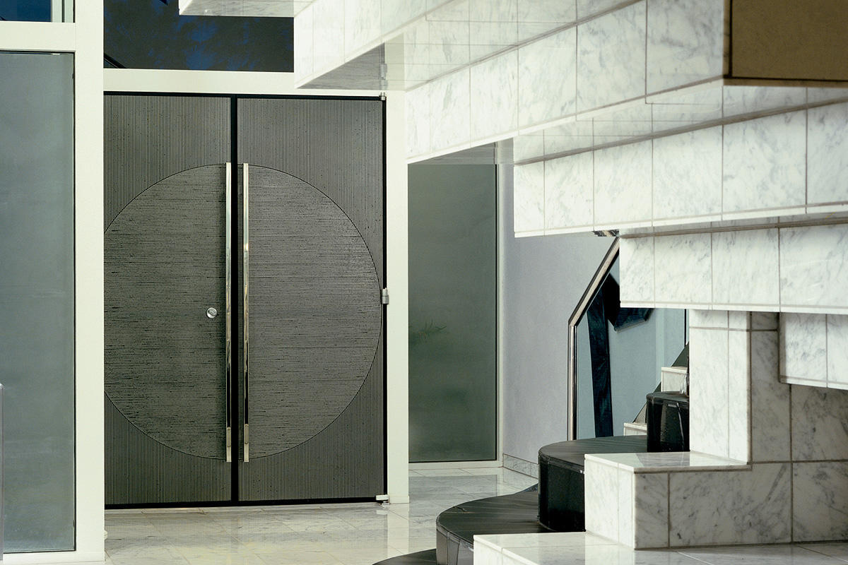 Bonded metal doors architectural forms surfaces for Metal entry doors
