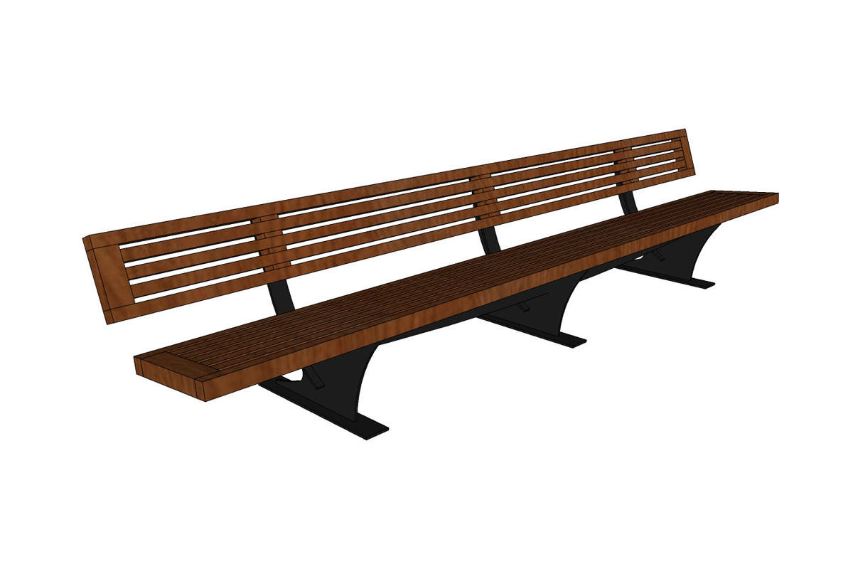 Outstanding Pacifica Bench Outdoor Forms Surfaces Gmtry Best Dining Table And Chair Ideas Images Gmtryco